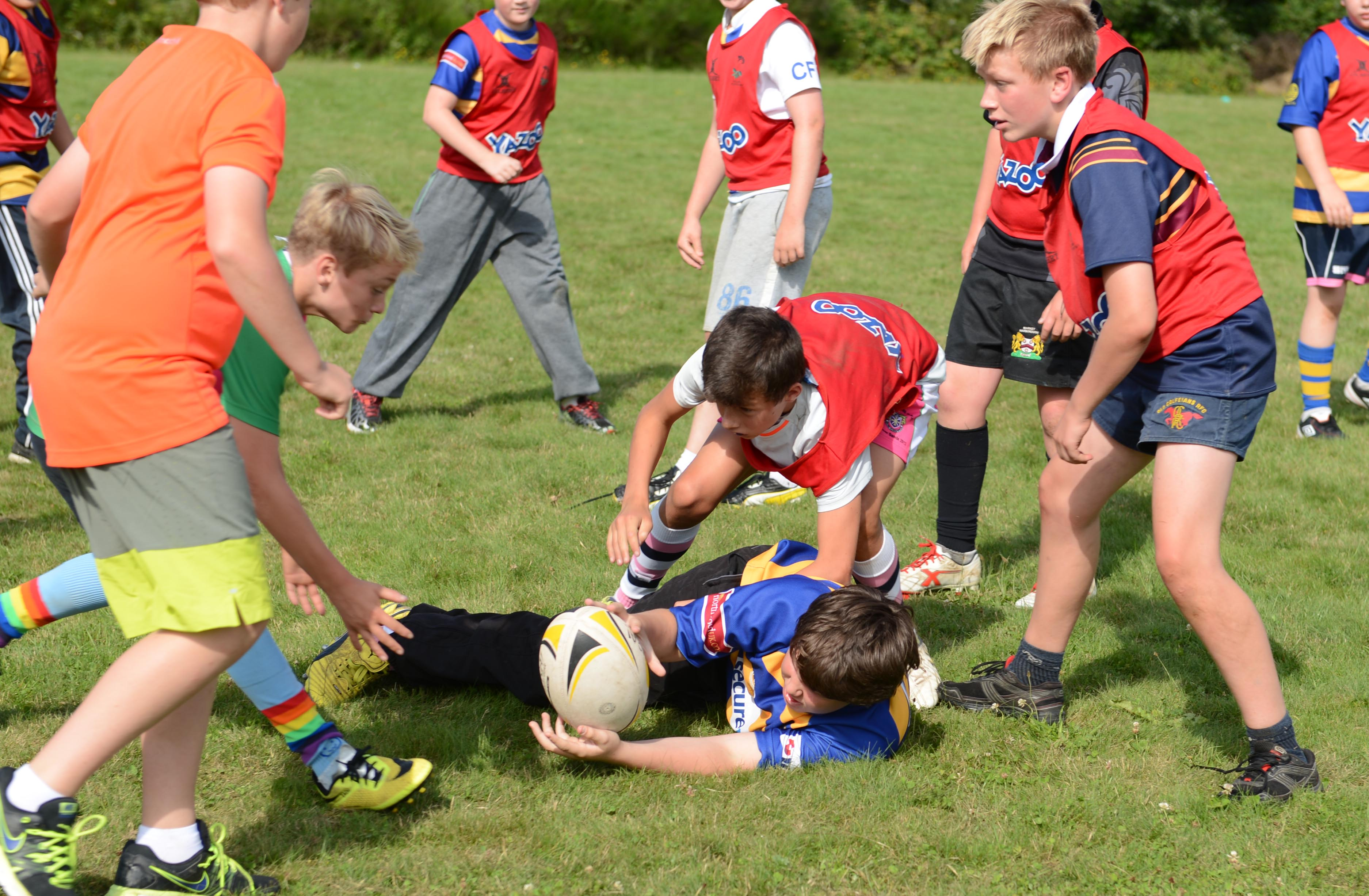 Rugby Camp France tackling