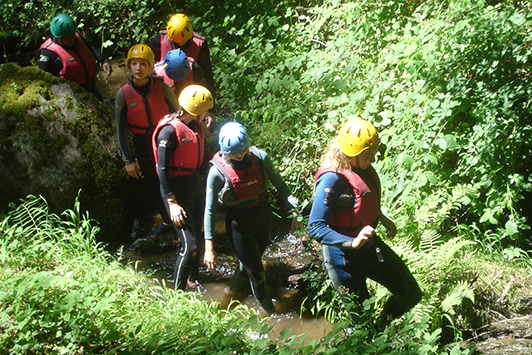 Gorge Walking Stream Scrambling Dordogne Valley France