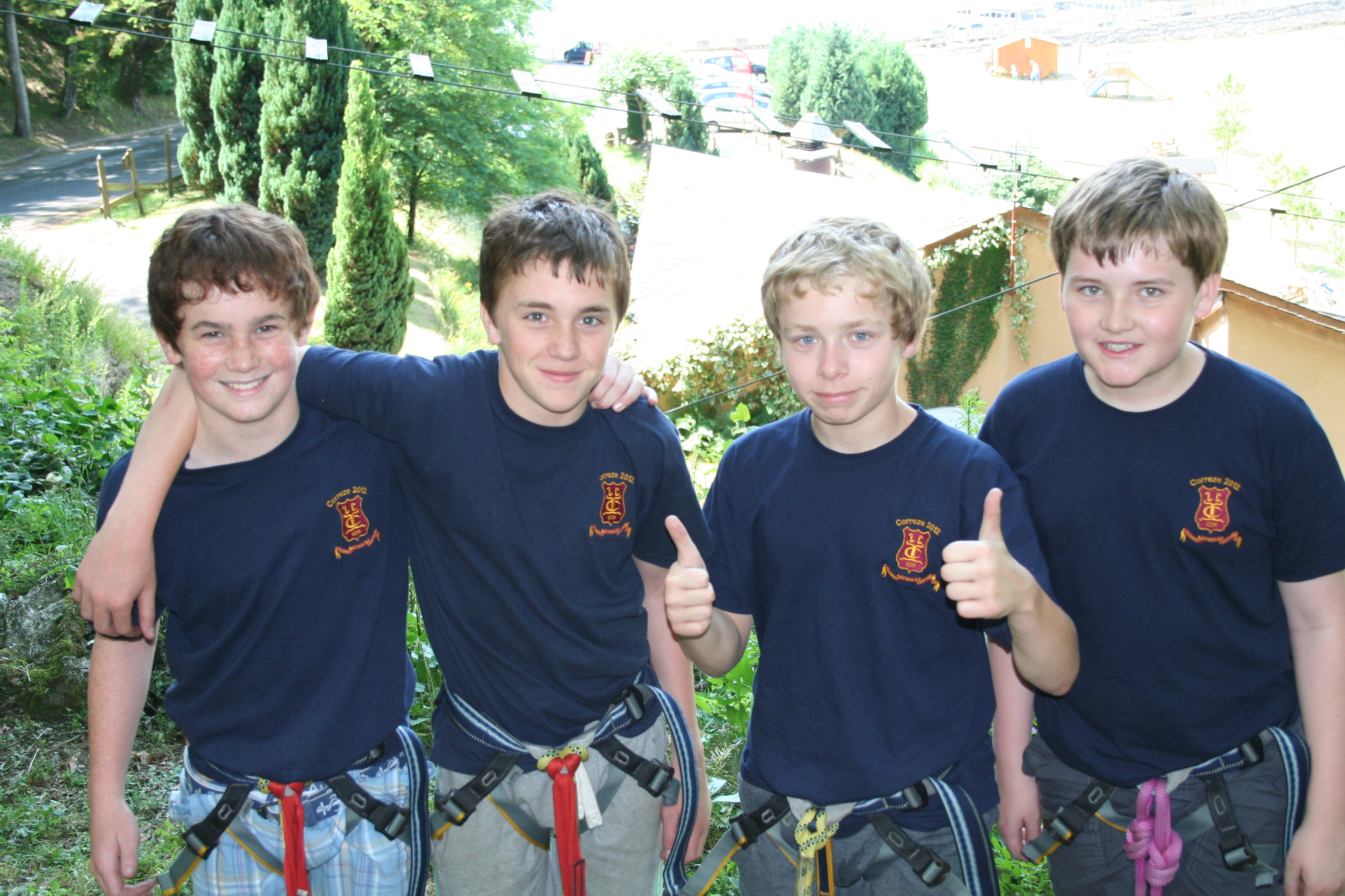 Boys High Ropes Course France